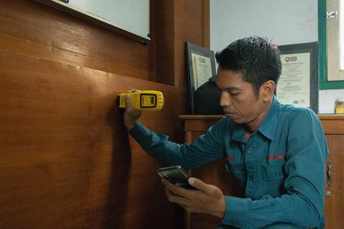 survey anti rayap dengan detektor termatrac